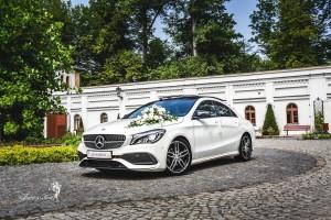 Mercedes na sesji zdjęciowej