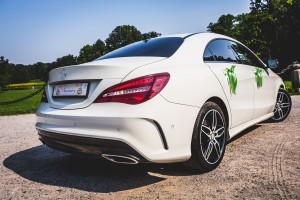 Mercedes CLA z tyłu