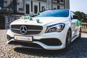 Zielona dekoracja Mercedesa
