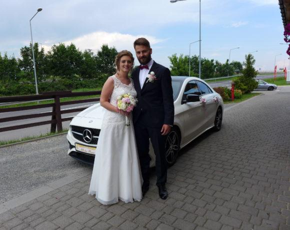 Nowożeńcy z Mercedesem w Bielsku-Białej