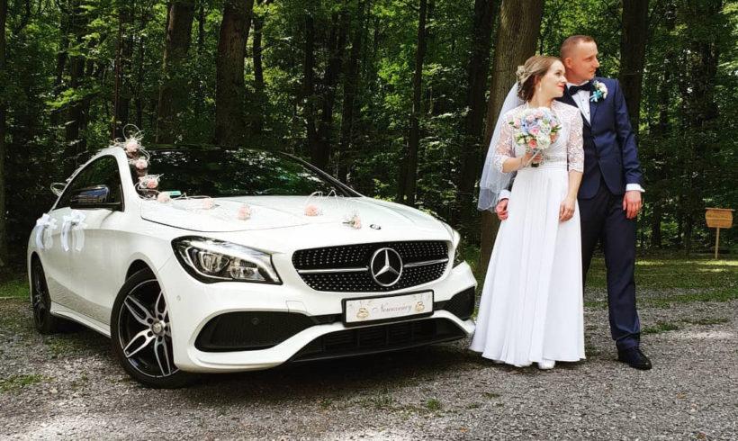 Sesja z limuzyną ślubną
