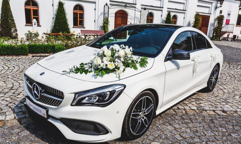 Mercedes do ślubu w Pszczynie