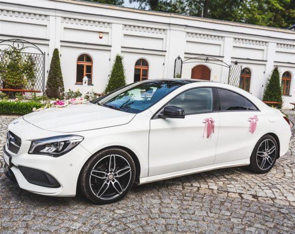 Auto do ślubu na zdjęciach w Pszczynie